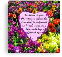 PRETTY PURPLE JEREMIAH 29:11 PHOTO Canvas Print