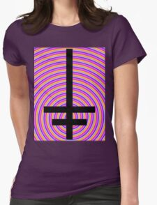 Inverted Psychedelic Cross Womens Fitted T-Shirt