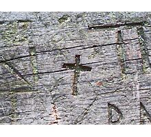 Carved Cross Photographic Print