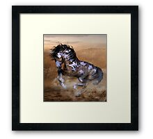 The Wild,The Free Painted Horse Framed Print