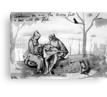 queen & fool Canvas Print