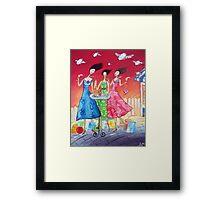 Wine O'Clock! Framed Print