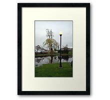 Plaza Pond Framed Print