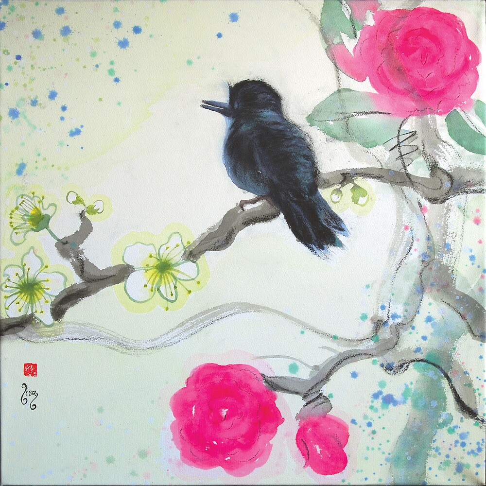 To blossom in the snow 'til Spring by Lisa Buckland