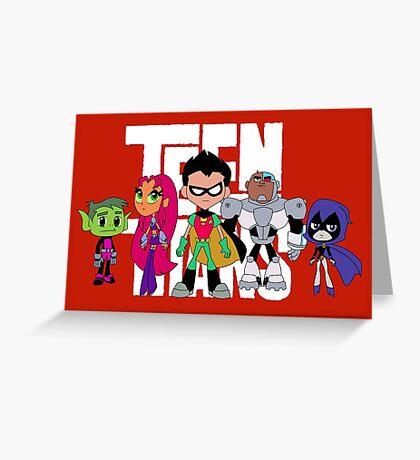 Teen Titans Greeting Card