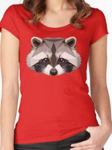 Raccoon Women's Fitted Scoop T-Shirt