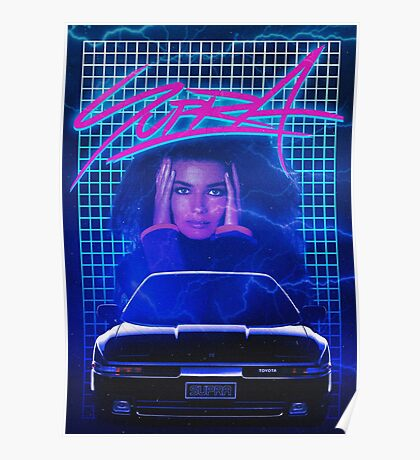 Synthwave Supra poster. Poster