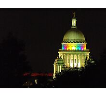 Providence State House dome Photographic Print