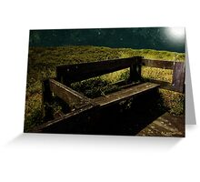 Midnight Bench Greeting Card