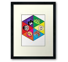 Teen Titans Chibi Hexagon Framed Print