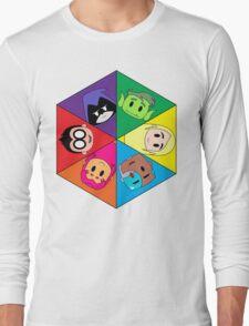 Teen Titans Chibi Hexagon Long Sleeve T-Shirt