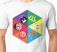 Teen Titans Chibi Hexagon Unisex T-Shirt