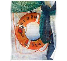 Stormy Seas Preserver Poster