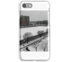 Charles River, frozen over iPhone Case/Skin