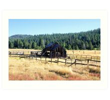 Old Barn and Corral  Art Print