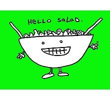 Hello Salad (greeny print) Photographic Print
