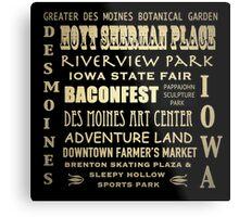 Des Moines Iowa Famous Landmarks Metal Print