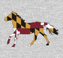 Maryland Flag Horse Baby Tee