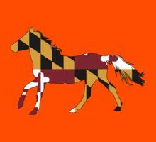 Maryland Flag Horse Kids Tee