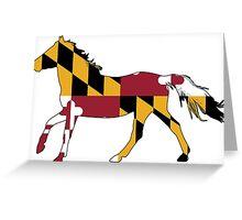 Maryland Flag Horse Greeting Card