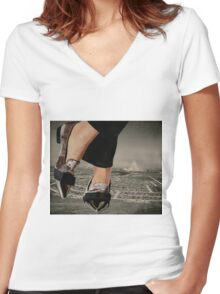 Larger than life Women's Fitted V-Neck T-Shirt
