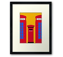 POST & TELEPHONE Framed Print