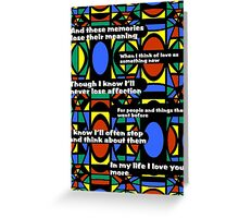 "The Beatles ""In My Life"" (Dedicated to Robert Abraham, fellow RB'er) Greeting Card"