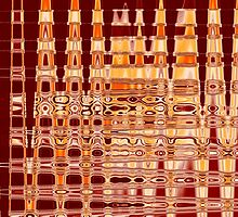 Fluid Vibration - Red by Shawna Rowe