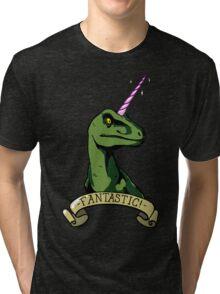 Fantastic Unicorn-Dinosaur Tri-blend T-Shirt