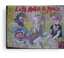 Let's Make A Movie Canvas Print