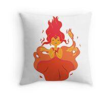 Flame Princess Throw Pillow