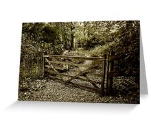The Woodland Gate Greeting Card