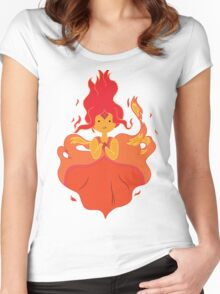Flame Princess Women's Fitted Scoop T-Shirt