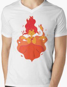 Flame Princess Mens V-Neck T-Shirt