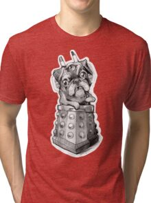 Dr Who Shirt - Pug-Ros Tri-blend T-Shirt