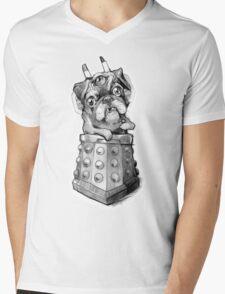 Dr Who Shirt - Pug-Ros Mens V-Neck T-Shirt