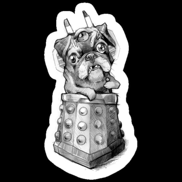Dr Who Shirt - Pug-Ros by jimiyo