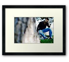 tied Framed Print