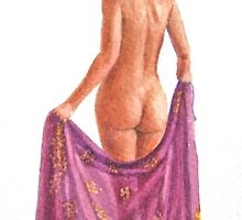 The burgundy sarong by Freda Surgenor