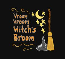 Vroom, Vroom, Witch's Broom Womens Fitted T-Shirt