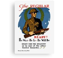 Enlist For The Infantry -- WWI Canvas Print