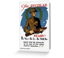 Enlist For The Infantry -- WWI Greeting Card