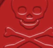 Skull and Cross Bones Wax Seal Sticker