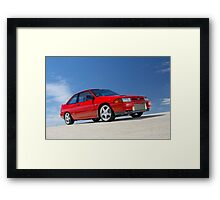 Red Ford Laser TX3 4WD Turbo Framed Print