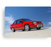 Red Ford Laser TX3 4WD Turbo Canvas Print