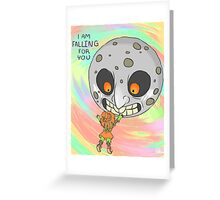 Skull Kid and Moon Greeting Card