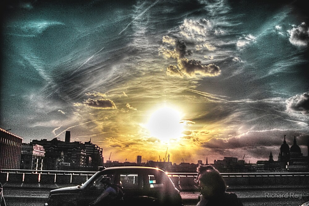 Sunset over London  by Richard Ray
