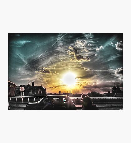 Sunset over London  Photographic Print
