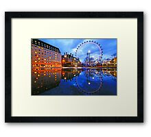 London Eye Blue Framed Print