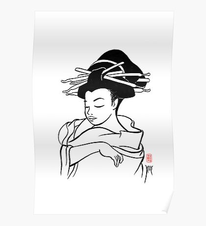 Maiko sketch Poster
